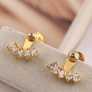 Henri Bendel Single Row Zircon Earrings